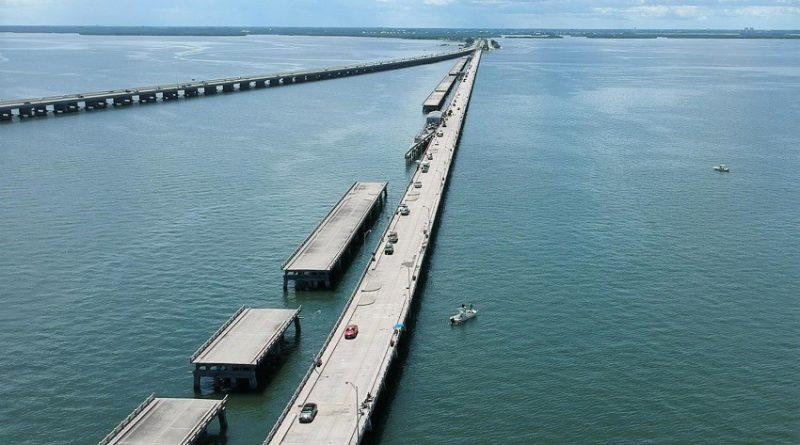 フロリダ釣行編8. これが世界一長いフィッシング・ピア!Skyway Fishing Pier Spanning Tampa Bay.